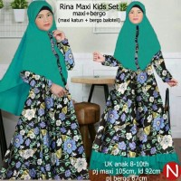 Baju Muslim Anak Rina Maxi Kids Katun Tebal /Agen Dropship Ter AHC3468