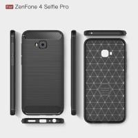 Softcase Carbon Fiber Case Cover Casing HP Asuz Zenfone 4 Selfie Plus