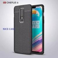 Softcase Carbon Fiber Armor Spigen Case Cover Casing HP OnePlus 6