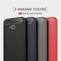Softcase Carbon Fiber Armor Case Cover Casing HP Asuz Zenfone 4 Selfie