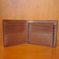 dompet pria import branded Hugo Boss DK322 brown Murah