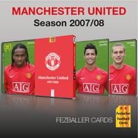 kartu bola Fezballer Cards Manchester United season 2007/2008