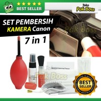 Set Pembersih kaca lensa Cleaning tool kit Kamera Canon Nikon - Red