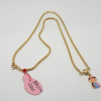 Kalung emas perhiasan anak-anak/baby langsung liontin