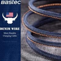 New Bastec Kabel Charger Lightning Leather 1.2 Meter - Black