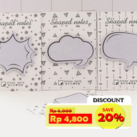 Stick Note Memo Shaped Notes