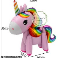 Standing Balloon Kuda Pony / Balon Foil Unicorn 3D Fullbody - PINK