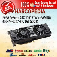 VGA Card EVGA GeForce GTX 1060 FTW+ Gaming 03G-P4-6367-KR 3GB GDDR5