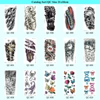 Catalog Tato Tatto Temporary Temporer Sticker Stiker Seri QC 21x10cm