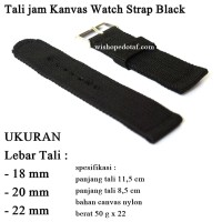 Tali jam military strap Canvas black