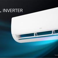 AC LG DUAL COOL ECO INVERTER T06EV3 1/2 PK Hemat Listrik s/d 70 %