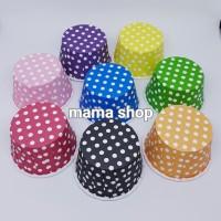 Papercup Cover Cupcake Tatakan kertas Cup Momma Cetakan Polkadot Polos
