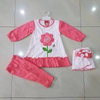 Baju Muslim Bayi / Setelan Pakaian Muslim baby girl dengan jilbab