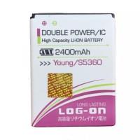 Baterai Double Power Log On Samsung Galaxy Young 1 S5360 / Batre DP