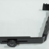 Harga sale l shape bracket holder with 2 hot shoe for microphone | Pembandingharga.com