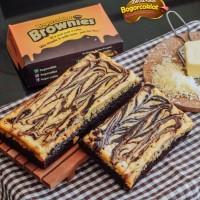 Brownies coklat keju uk 22x10cm (via jne yes/go send)