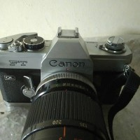 Kamera analog film Canon ft ql + canon fd 200mm f4 ssc