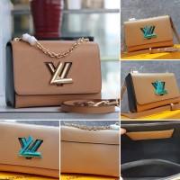 LV Twist Mirror Quality Tas Hand Bag Wanita Branded Cantik BEIGE
