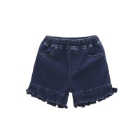 Mom N Bab Short Pants Navy Jeans Ruffle