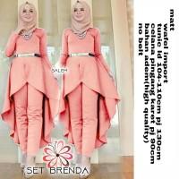 GU- Set Brenda( 2 WARNA)/Setelan Hijab/Long Set Celana Kerja