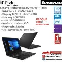 LENOVO ThinkPad E480-9ID Intel Core i5-8250U/4GB/1TB/Win10Pro