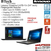 LENOVO ThinkPad E470-TIA Intel Core i5-7200U/Intel HD 620/4GB/1TB/DOS