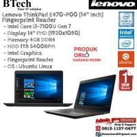 LENOVO ThinkPad E470-P00 Intel Core i3-7100U/4GB/1TB/DOS