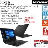 LENOVO ThinkPad E480-48IA Intel Core i5-8250U/4GB/1TB/DOS