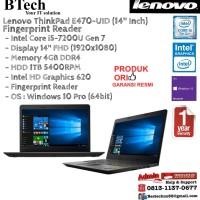 LENOVO ThinkPad E470-UID Intel Core i5-7200U/Intel HD/4GB/1TB/Win10Pro