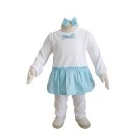 Elsa Sleepwear Blue Turquoise Baju Setelan Anak Perempuan