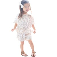 Mosfit Cassie Flower White Baju Setelan Anak Perempuan