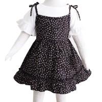 Mosfit Camelia Girls Black Dress Baju Setelan Anak Perempuan