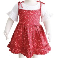 Mosfit Camelia Girls Red Dress Baju Setelan Anak Perempuan