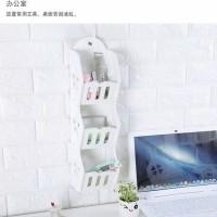Storage Decorative Rack Shabby Chic Rak Dinding Kosmetik Remote Hp