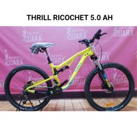 SEPEDA THRILL RICOCHET 5.0 AH2018 MY MTB 27.5 NEON YELLOW ACERA 2x9SP