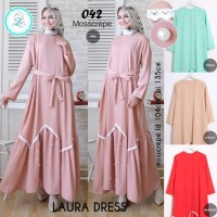 Gamis / Dress Polos Aksen Mutiara Laura By Zie