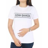 Vanwin - Tumblr Tee / Kaos Cewek / T-Shirt Wanita Sudah Bahagia - Puti
