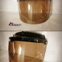 Kaca Helm Visor Mika Bogo Datar Flat Rata Retro Classic Warna BG 05