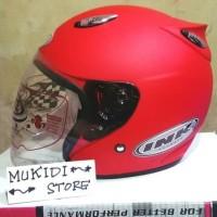Helm basic INK Centro Merah Doff bkn KYT BOGO AGV RETRO CROSS ANAK B