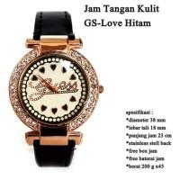 (Jam Tangan Analog) jam branded Wanita GS Love Hitam FULL