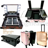 SPESIAL EDITION Beauty case / Koper makeup kaca lampu EVELINE 02 - Hit
