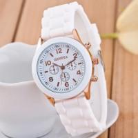 Jam Tangan Wanita Geneva Kepang / Watch Rubber Korea Fashion - FAS110