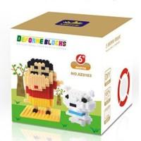 nano block sinchan shiro koleksi anti mainstream pajangan lucu komik