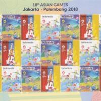 PRANGKO 18TH ASIAN GAMES JAKARTA - PALEMBANG 2018 FULL SHEET .