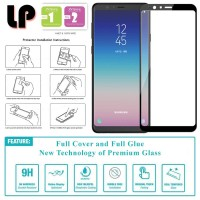 LP Full Glue Tempered Glass Samsung Galaxy A8 Star 2018