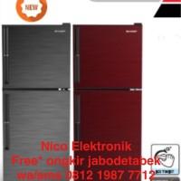 FREE ONGKIR* Lemari Es Sharp kulkas 2 pintu sj-246-gc low watt
