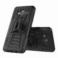 Hard Soft Case Samsung J7 DUO Casing Cover HP Armor Stand Silikon 360