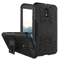 Hard Soft Case Motorola Moto E3 Power Casing HP Armor Stand Silikon 3D