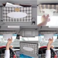Tempat Box Tissue Mobil Sliding Holder Car Tisu Souvenir Sunvisor Cars