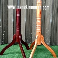 Manekin Kaki Kayu/Tiang Kayu/Kaki Kayu Bongkar Pasang/ Kaki Patung